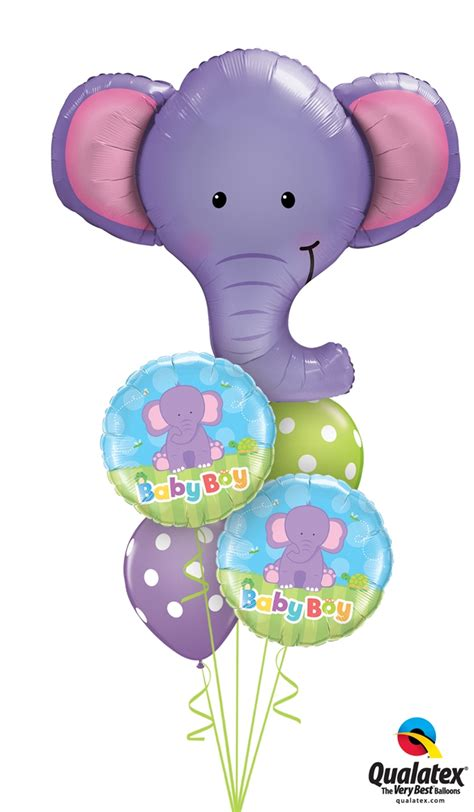 Elephant Baby Shower Balloons by Baby Shower Helium Filled Balloon Bouquet Delivered Baby