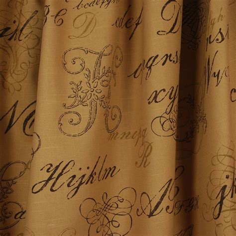 script upholstery fabric writing script fabric monogram brown ebay