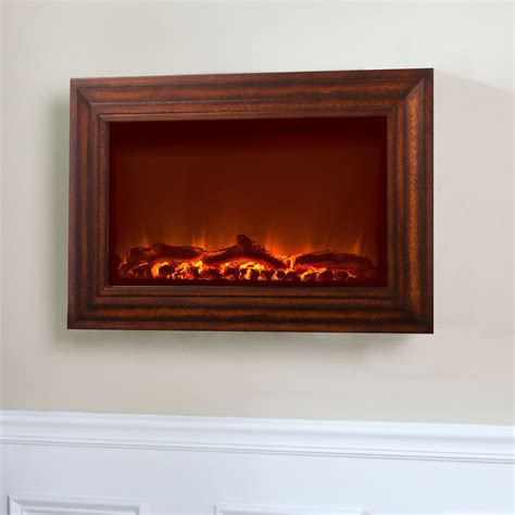 Firesense Wall Mounted Electric Fireplace sense 60948 wood wall mounted electric fireplace