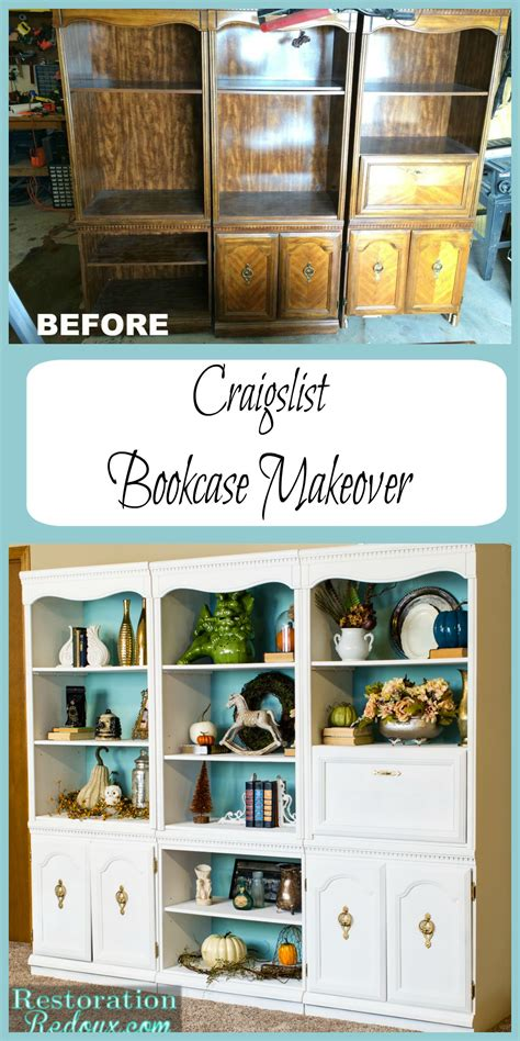 craigslist ivory bookshelf makeover daily dose of style