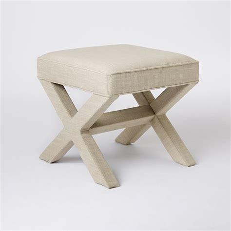 kayla cream and walnut traditional x leg bench ottoman x stool ottoman tubmanugrr com