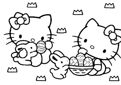 free coloring pages hello kitty easter coloring pages
