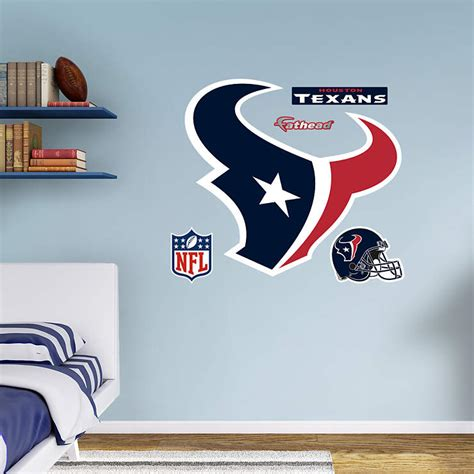 texans wall decor houston texans logo wall decal shop fathead 174 for houston