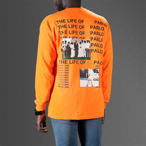 T Shirt Pablo the of pablo orange sleeve t shirt wehustle