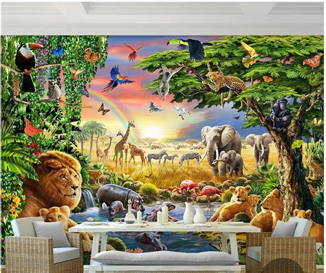 Large Dinosaur Wall Stickers popular rainbow wall murals buy cheap rainbow wall murals