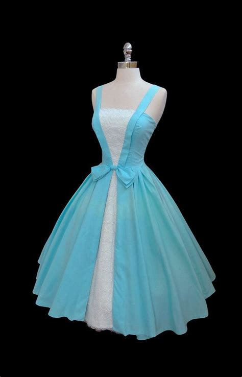 reserved for julie vintage 1950 s 50s blue cotton tiered