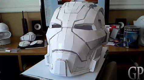 Ironman Helmet Papercraft - iron 17 casco helmet pepakura papercraft