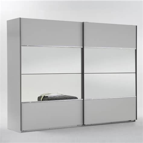 White Sliding Mirror Wardrobe by Sicily Sliding Wardrobe In Alpine White And Mirror Insert