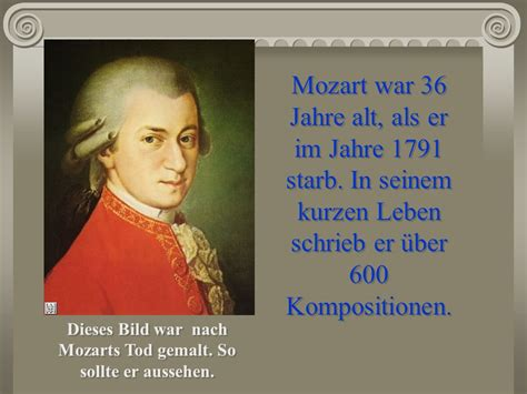 Lebenslauf Wolfgang Amadeus Mozart Wolfgang Amadeus