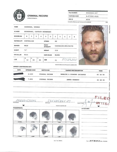 Criminal Records Criminal Record Images