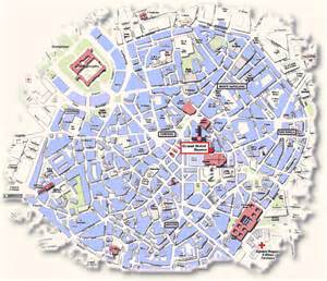 Milan Italy Map by Map Of Central Milan Italy Pictures To Pin On Pinterest