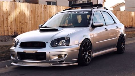 subaru wagon stanced ryan st germain s slammed 04 subaru wrx wagon youtube