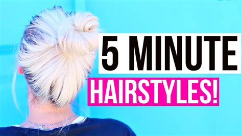 easy hairstyles for school in 5 minutes easy 5 minute hairstyles for back to school aspyn ovard