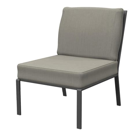 metal outdoor sectional hton bay granbury metal armless middle outdoor