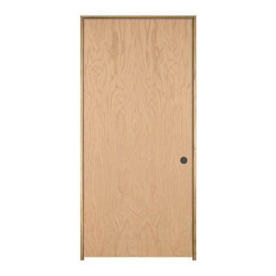oak interior doors home depot jeld wen woodgrain flush unfinished oak single prehung interior door 707454 the home depot