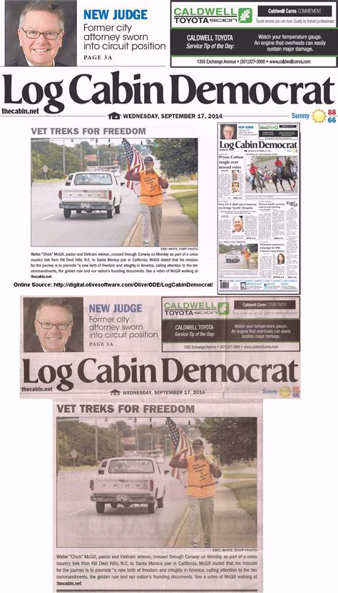 Log Cabin Democrat by Walk Across America Press