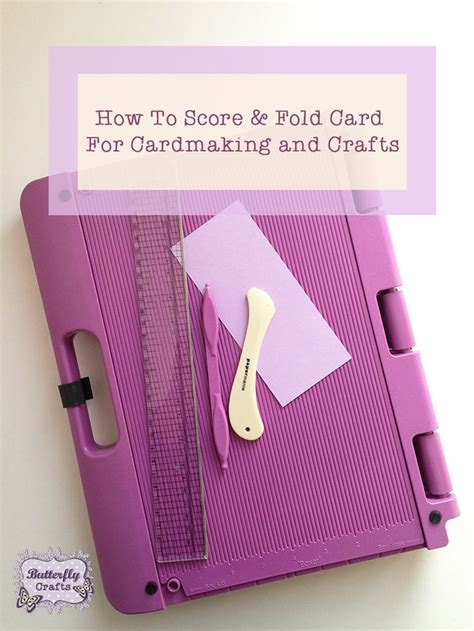 How To Score Paper For Folding - 38 best images about craft tutorials papercrafts on