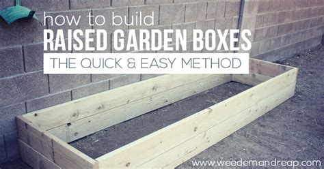 How To Make A Raised Garden Box - how to build raised garden boxes