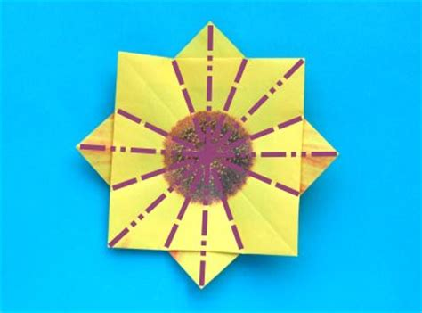 Origami Sunflower Step By Step - origami sunflower step by step 28 images paper