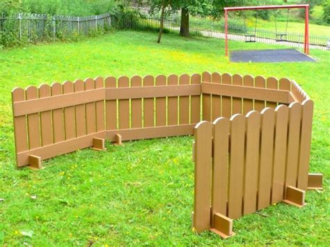 picket fence panels portable recycled plastic wood