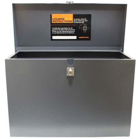 hardcastle large grey lockable letterboxparcel box home