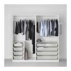 niedriger kleiderschrank ikea pax wardrobe white 200x58x201 cm ikea