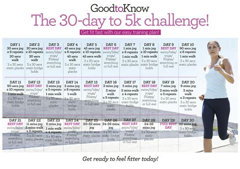 To 5k In 30 Days by Easy 5k Plan 30 Days To 5k Ready Goodtoknow