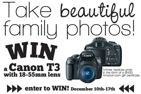 Canon Giveaway - giveaway win a canon t3 dslr camera craftfoxes