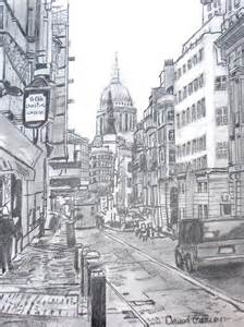 European City Street Drawing By David Garren