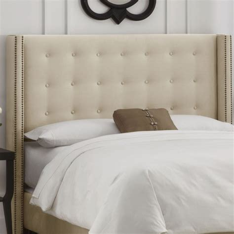 button tufted upholstered headboard modern headboards