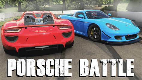 Porsche 918 Vs Carrera Gt by Quot Generation Battle Quot Porsche 918 Spyder Vs Porsche
