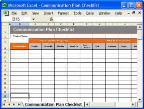 delivery checklist template communication plan excel checklist template a