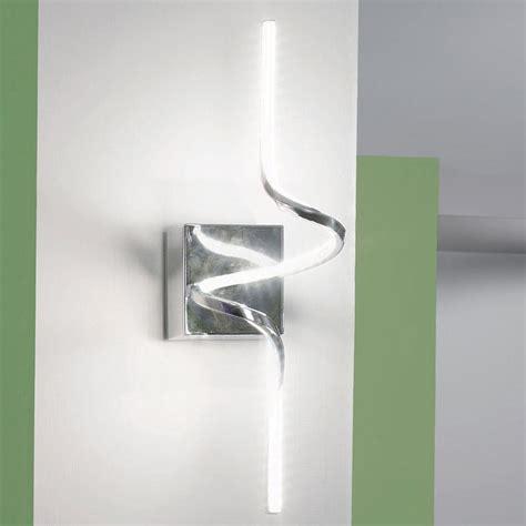 applique acciaio applique a led in acciaio lucido nives
