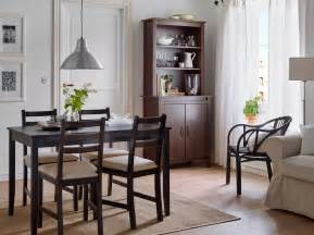 Ikea Dining Room Furniture dining room with a black brown dining table and chairs with beige