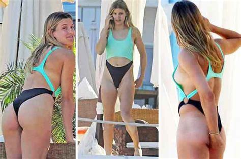 Sizzling Eugenie Bouchard Shows Off Bum And Sideboob In
