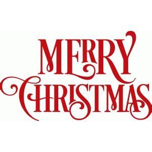 silhouette design store view design  swirly merry christmas phrase