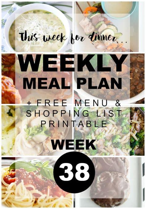 room 38 menu weekly meal plan 38 the idea room