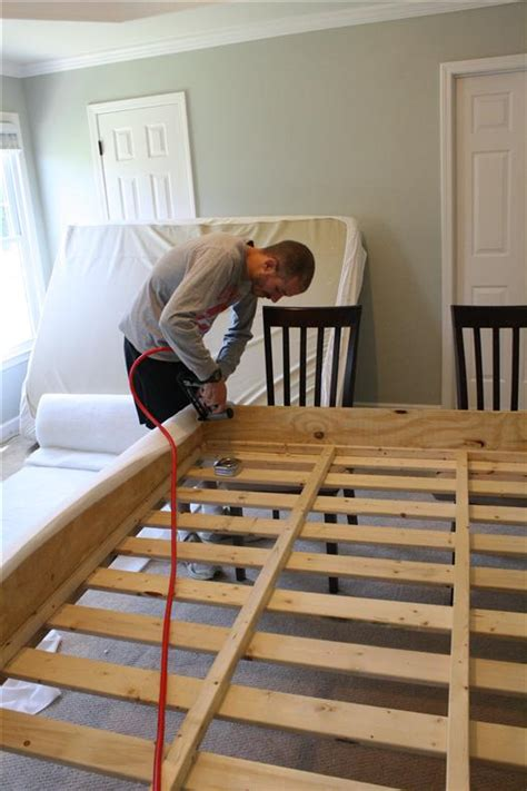 build your own bed diy upholstered platform bed