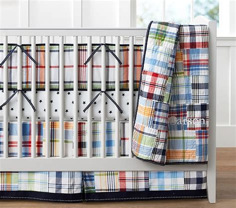 madras pottery barn crib bedding madras nursery bedding pottery barn