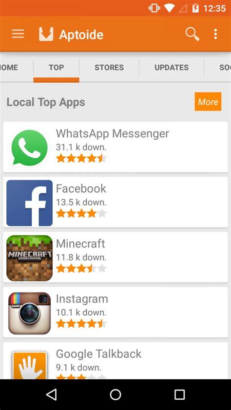 aptoide app top canales de descarga de apps