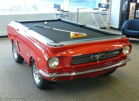 motoring fanatics at florida based car pool tables turn vintage mustangs into pool tables