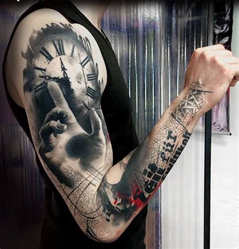 tattoo arm klok 802 best images about clock compass tattoo 2 you on