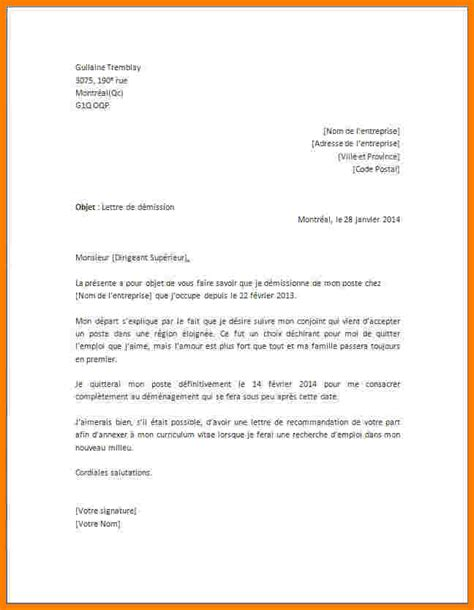 Exemple De Lettre De Démission Jobboom 9 Exemple Lettre Demission Lettre Officielle