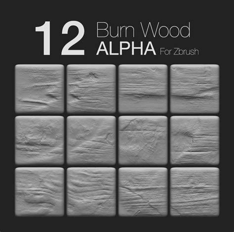 Zbrush Wood Tutorial | zbrush 12 burnwood alpha prashant dwivedi on artstation