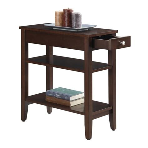 espresso accent table 3 tier end table in espresso 7107159es
