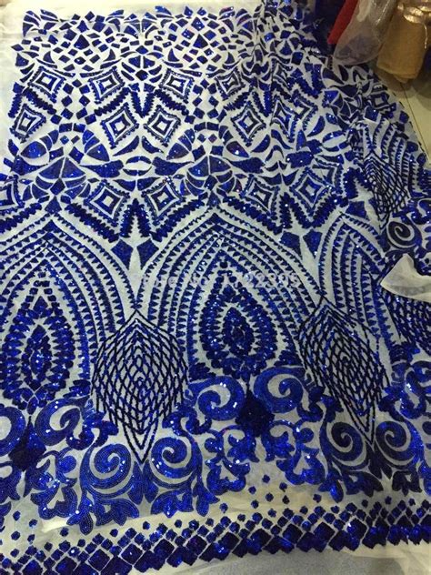 aliexpress fabric aliexpress com buy 120cm deep blue sequins mesh lace