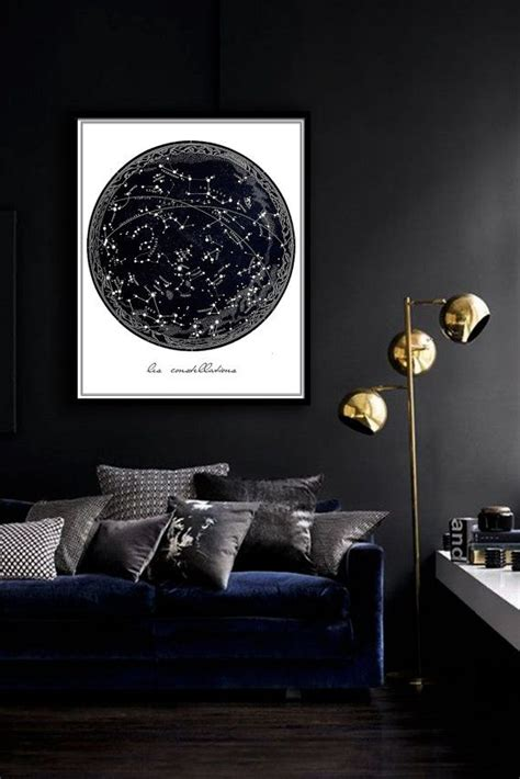 the constellation room vintage constellation poster printable file same price 5 sizes celestial print