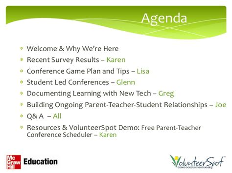 Agendawelcome Why We Re Hererecent Parent Conference Powerpoint Template