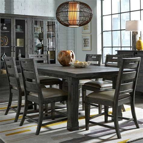 abington 7 dining room table with 6 side chairs
