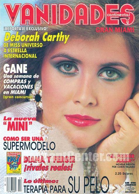 vanidades puerto rico vanidades continental 1986 deborah carthy miss universe 85